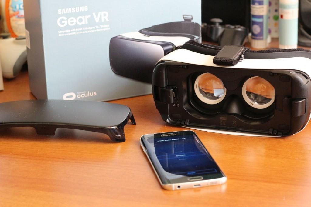 Persönliches Highlight im Dezember 2015: Test der Gear VR-Brille.